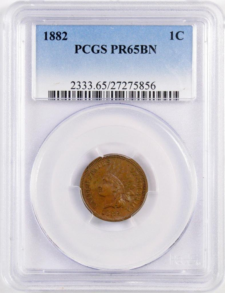 1882 Indian Head Cent (PCGS) PR65BN.