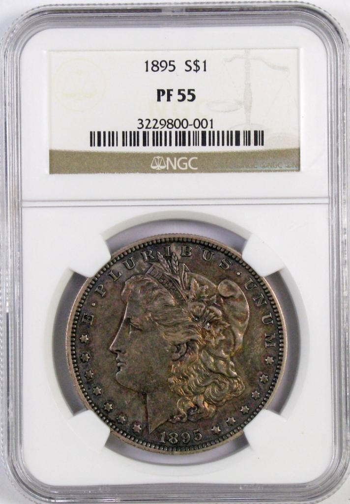 1895 P Morgan Silver Dollar (NGC) PF55.
