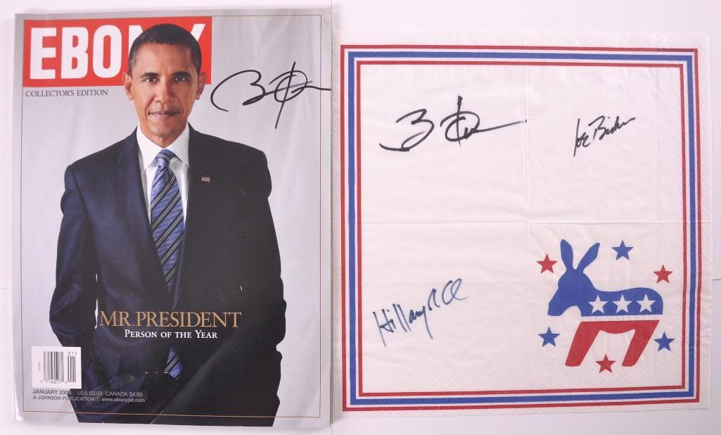 Barack Obama, Joe Biden, and Hilary Clinton Signed