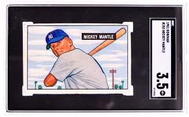 1951 Bowman New York Yankees Mickey Mantle Baseball