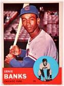 1963 Topps Chicago Cubs Ernie Banks Baseball Card