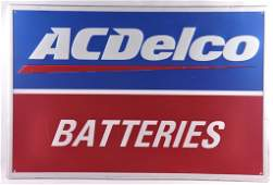 AC Delco Batteries Metal Advertising Sign