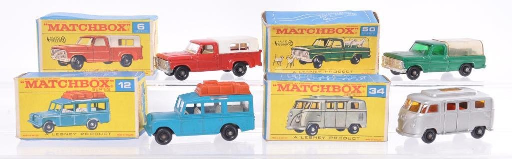 Group of 4 Matchbox Die-Cast Vehicles with Original