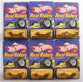 Group of 6 Hot Wheels Real Riders DieCast Vehicles in