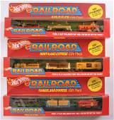 Group of 3 Hot Wheels Railroad Train Set in Original