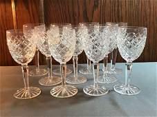 Group of Vintage Waterford Crystal stemware glasses