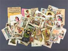 Group of Antique Victorian Trade Cards Advertising and
