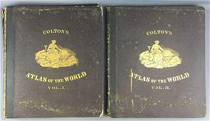 RARE Complete set 1856 Coltons Atlas of the World