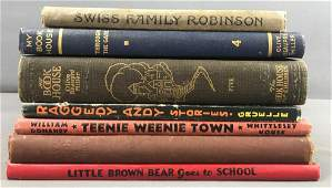 Group of 7 Antique and Vintage Childrens Books