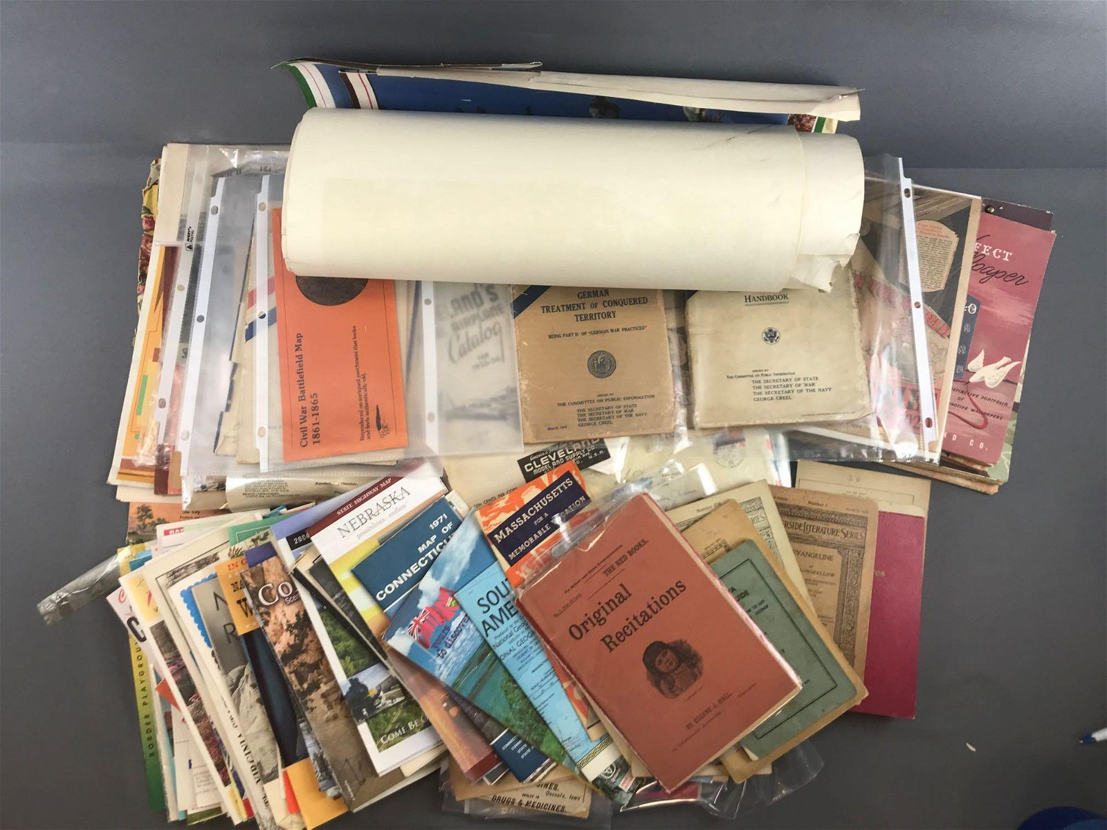 Large group of 150+ miscellaneous antique and vintage