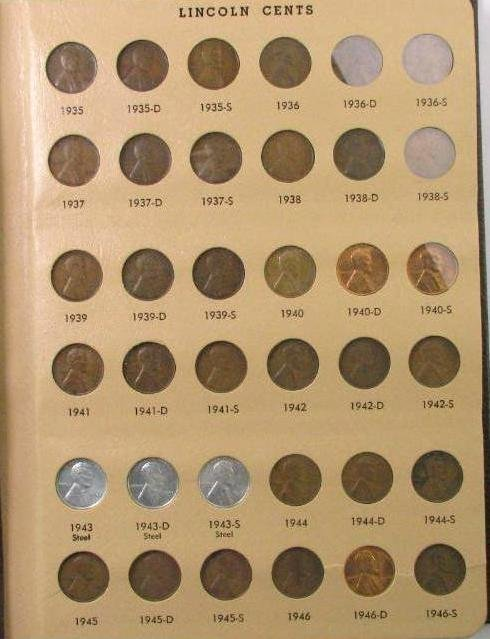 Group of (216) Lincoln Wheat & Memorial Cents in Dansco