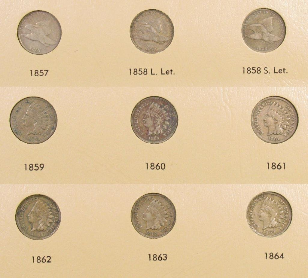 Group of (9) Flying Eagle & Indian Head Cents.