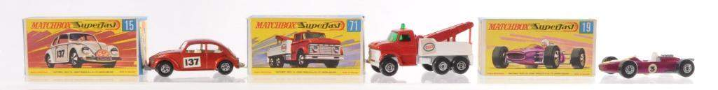 Group of 3 Matchbox Superfast Die-Cast Vehicles with