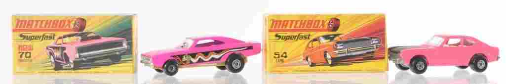 Group of 2 Matchbox Superfast Die-Cast Vehicles with