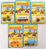 Group of 5 Matchbox Superfast DieCast Vehicles in