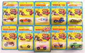 Group of 10 Matchbox Superfast Die-Cast Vehicles in