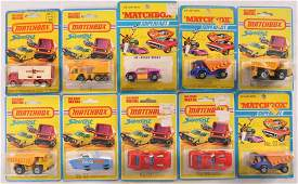 Group of 10 Matchbox Superfast DieCast Vehicles in