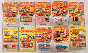 Group of 10 Matchbox Streakers DieCast Vehicles in