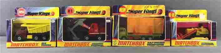 Group of 4 Matchbox Super Kings Die-Cast Vehicles in