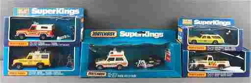 Group of 5 Matchbox Super Kings Die-Cast Vehicles in