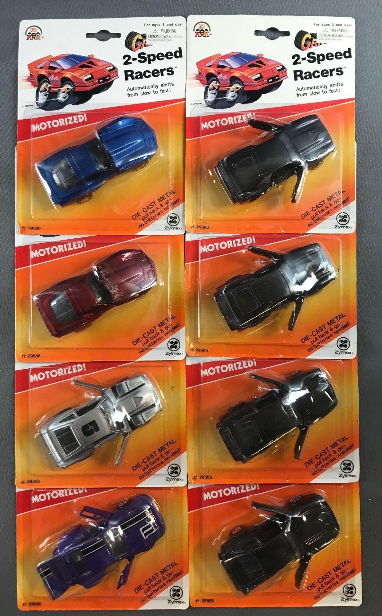 Group of 8 Zee Die-Cast Vehicles in Original Packaging