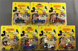 Group of 7 Matchbox Walt Disney DieCast Vehicles in