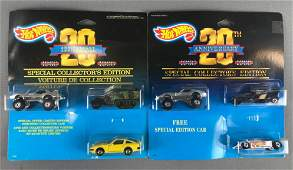 Group of 2 Hot Wheels 20th Anniversary Gift Sets