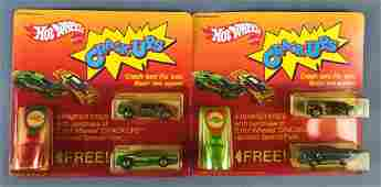 Group of 2 Hot Wheels CrackUps Gift Sets in Original