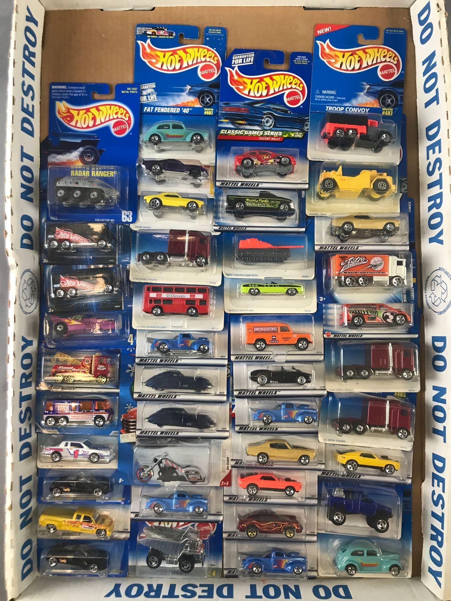 Group of 43 Hot Wheels Die-Cast Vehicles in Original