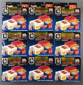 Group of 9 Hot Wheels Sto & Go McDonalds Playset in