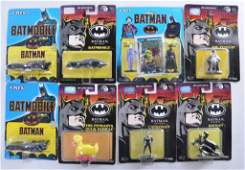 Group of 8 ERTL Batman DieCast Vehicles and Figures in