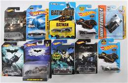 Group of 10 DieCast Batman Vehicles in Original