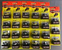 Group of 23 Matchbox Harley Davidson Sportsters in