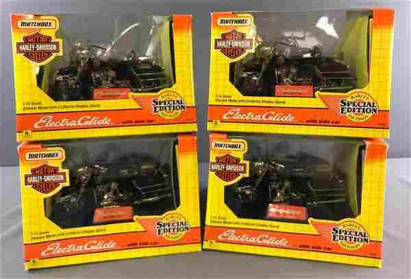 Group of 4 Matchbox Harley Davidson Diecast Models In