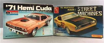 Group of 2 Vintage Model Car Kits sealed in Original