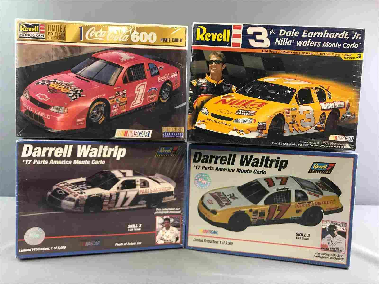 Group of 4 NASCAR Scale Model Car Kits in Original