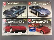 Group of 4 Corvette Scale Model Car Kits