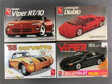Group of 4 Scale Model Car Kits sealed in Original