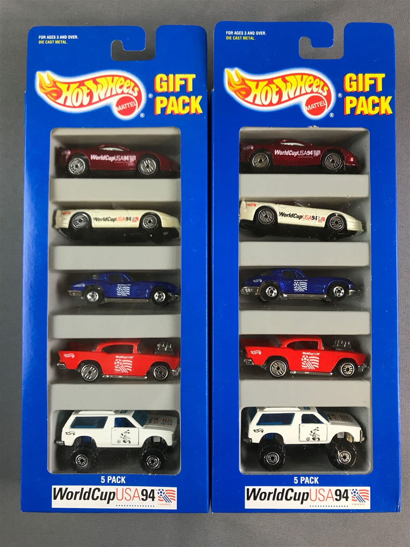 Group of 22 Hot Wheels Gift Packs World Cup USA 94
