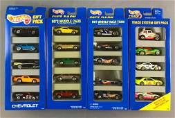 Group of 4 Hot Wheels Die Cast Vehicles Gift Packs