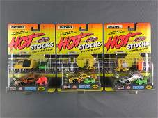 Group of 10 Matchbox Hot Stocks Play Sets In Original