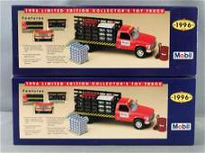 Group of 2 Mobil 1996 Edition Collectors Toy Truck in