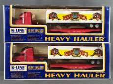 Group of 2 K-Line Electric Trains Heavy Hauler Die-Cast