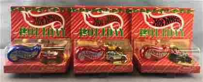 Group of 8 Hot Wheels Holiday Die-Cast Vehicles in