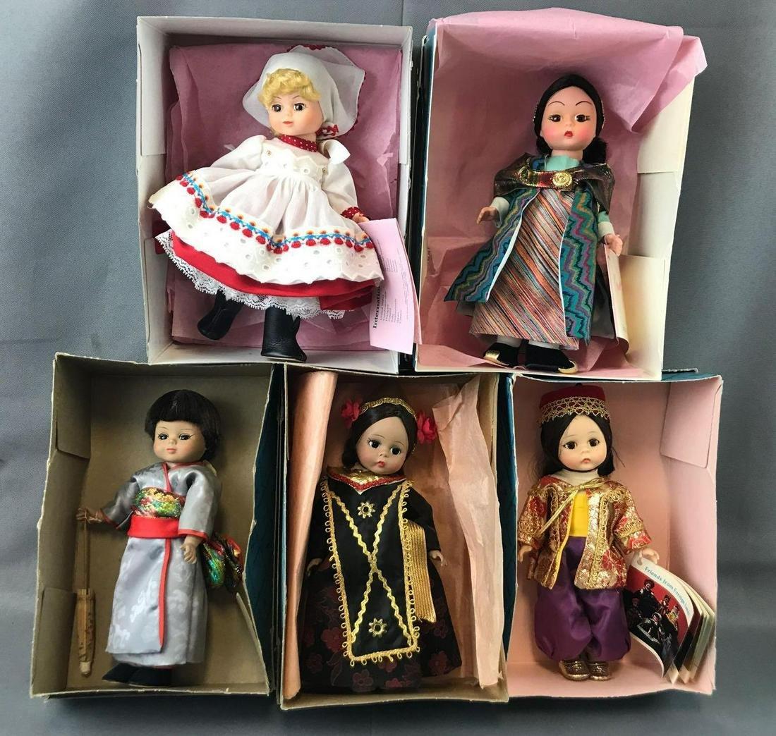 Group of 5 Madame Alexander dolls