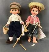 Group of 2 Madame Alexander Miniature Showcase