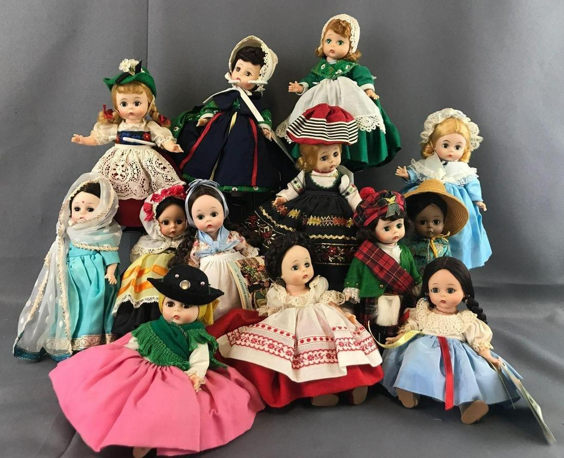 Group of 13 Madame Alexander dolls