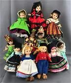 Group of 12 Madame Alexander dolls