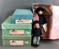 Group of 4 Madame Alexander Little Women dolls in
