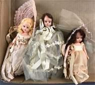 Group of 3 Vintage Nancy Ann storybook dolls with